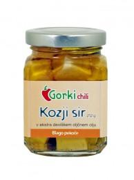 Kozji sir (v ekstra deviškem oljčnem olju s čilijem)