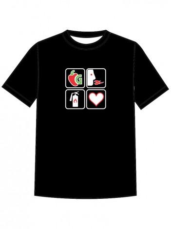 Hot Four square (ženska majica)